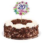 """Декор для торта """"С двадцатилетием"""""""