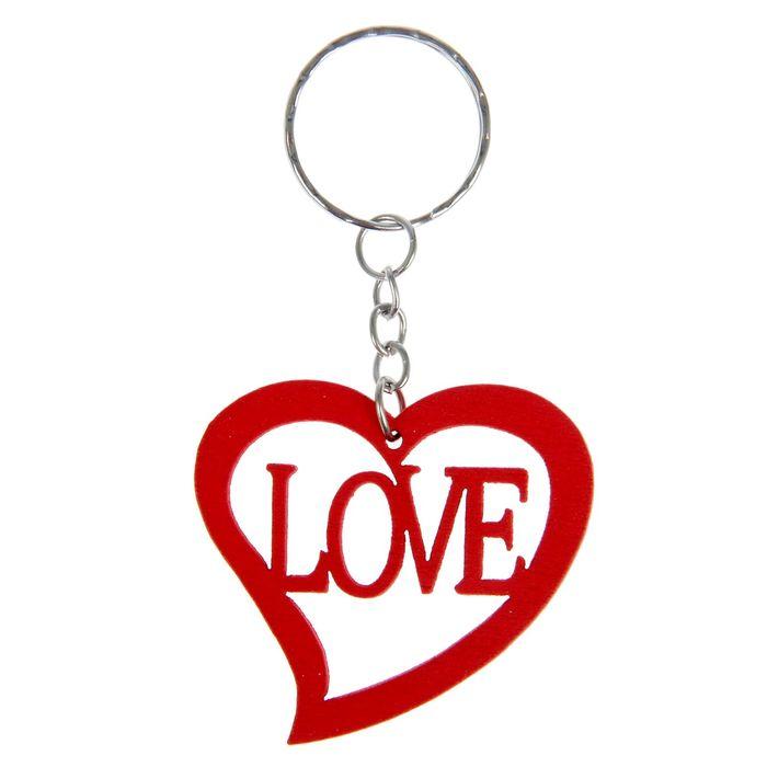 """Брелок дерево """"Сердце. Love"""" МИКС 4,5х4,8 см"""