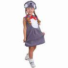 """Детский карнавальный костюм """"Ёжик с грудкой"""", велюр, сарафан, шапка, 1,5-3 года"""