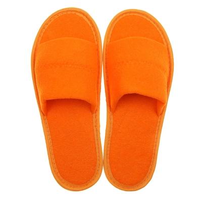 Тапочки махровые открытые, цвет персик, размер 39-41