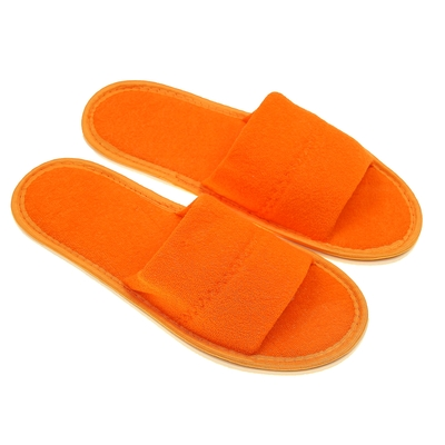 Terry Slippers open, color peach, size 39-41