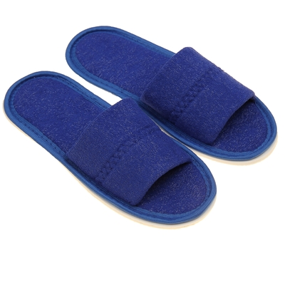 Terry Slippers open, color cornflower, size 36-38
