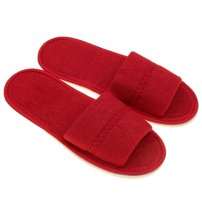 Terry Slippers open, color Bordeaux, size 36-38