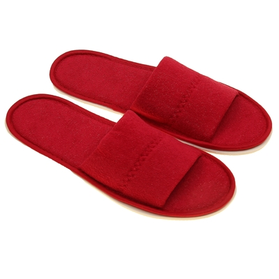 Terry Slippers open, color Bordeaux, size 42 to 45