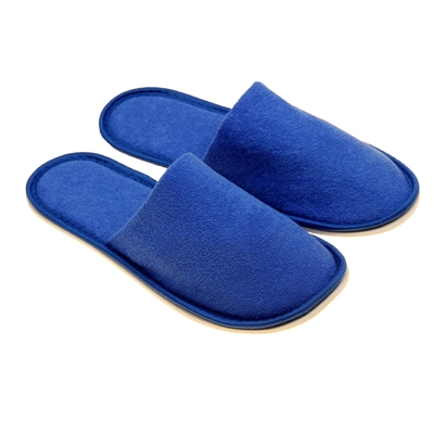 Terry Slippers, closed, color cornflower, size 42-45