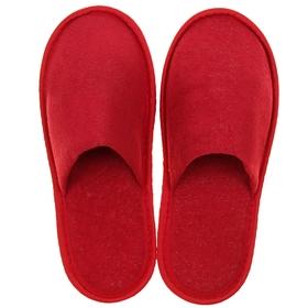 Тапочки женские, цвет бордовый, размер 36-38