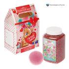 """Подарочный набор в пакете """"Я тебя люблю"""": морская соль 750 г (роза), бурлящий шар (клубника)"""