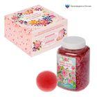 """Подарочный набор """"Для самой замечательной и красивой"""": морская соль 750 г (роза), бурлящий шар (клубника)"""