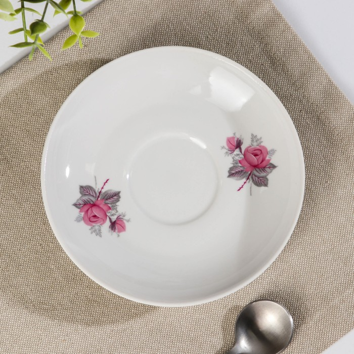 Блюдце «Дикая роза», d=14 см