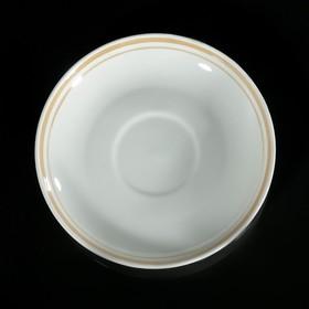 Блюдце чайное 14 см 'Отводка люстром' Ош