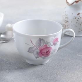 Чашка чайная Дулевский фарфор «Дикая роза», 275 мл