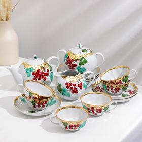 Сервиз чайный «Тюльпан. Калинка», 15 предметов