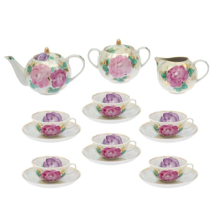 """Сервиз чайный """"Тюльпан. Свадебный"""", 15 предметов"""
