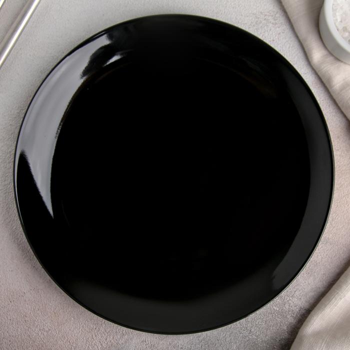"Тарелка 21 см ""Чёрная"""