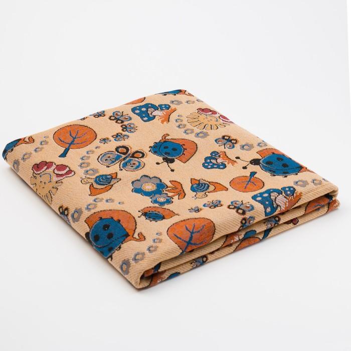Покрывало гобеленовое Дина, рисунок МИКС, размер 110х150 см, 280 г/м2, подшивка