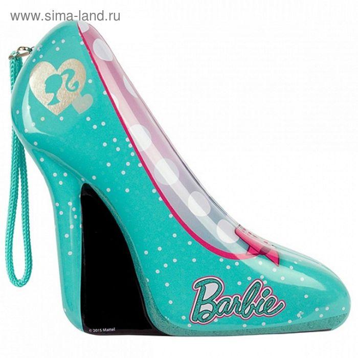 Игровой набор детской декоративной косметики в зелёной туфельке Barbie