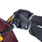 Муфта для рук «Морозко» меховая, на кнопках, цвет чёрный МИКС
