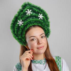 Кокошник на ободке «Снежный лес», цвета МИКС
