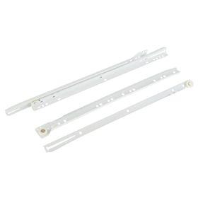 Роликовые направляющие, L=400 мм, до 12 кг, белые, 4 шт.