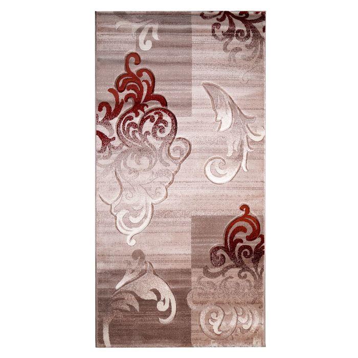 Прямоугольный ковёр Beluga Carving 9590, 100 х 200 cм, цвет bone/rose - фото 7928977