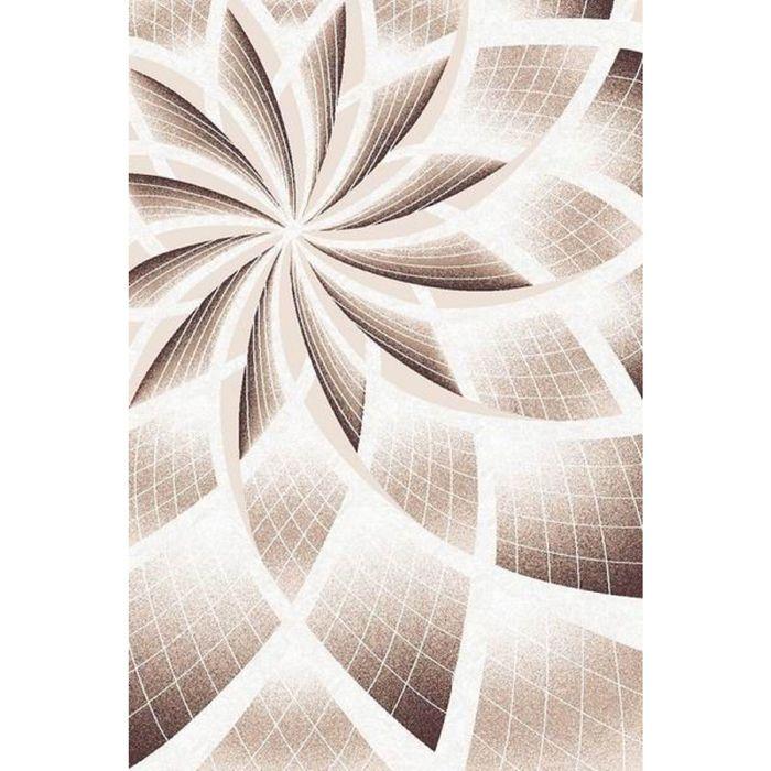 Прямоугольный ковёр Beluga Carving 9592, 200 х 500 cм, цвет bone/d.brown - фото 7928981