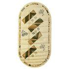Овальный ковёр Antiq Imperial 3884, 100 х 200 см, цвет krem/krem - фото 7928995