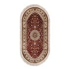 Ковёр ELEGANCE 1657 RED 100 х 200 см, овал - фото 7929174