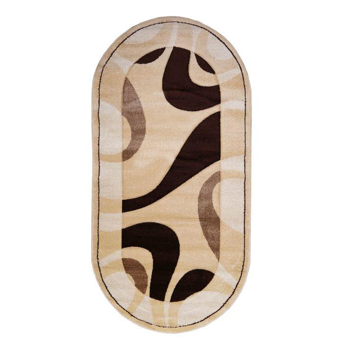 Овальный ковёр Carving 6023, 100 х 200 см, цвет vanilya - фото 7929181