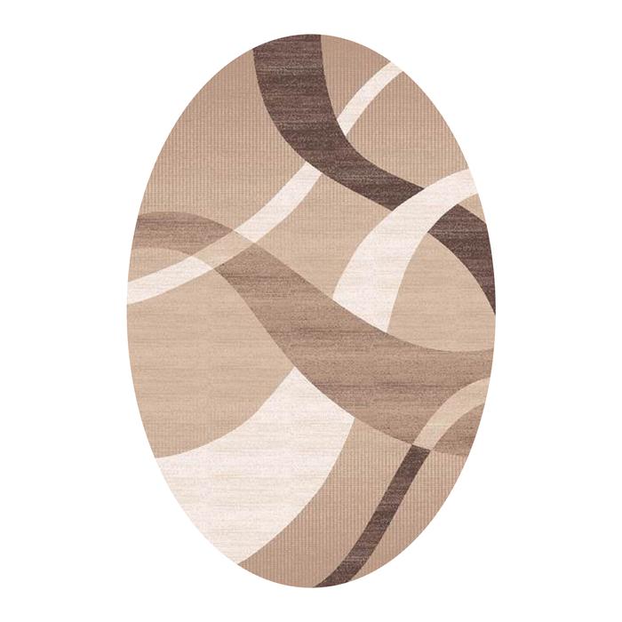 Овальный ковёр Omega Carving 7690, 100 х 200 cм, цвет bone/beige - фото 7929004