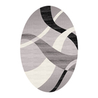 Овальный ковёр Omega Carving 7690, 80 х 150 cм, цвет grey/blacke - фото 7929006