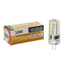 Лампа светодиодная Ecola, 3 Вт, G4, 4200 K, 320°, дневной белый