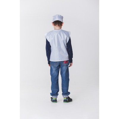 """Карнавальный костюм """"Доктор"""", халат, шапка, рост 110-122 см, 4-6 лет"""