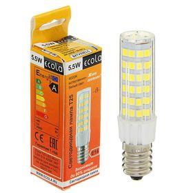 Лампа светодиодная Ecola, T25, 5.5 Вт, E14, 4000 K, 340°, для холодильников и швейных машин