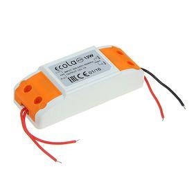 Блок питания Ecola для светодиодной ленты, 12 Вт, 220-12 В, IP20