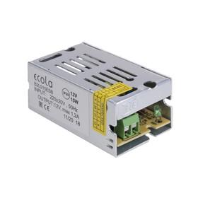 Блок питания Ecola для светодиодной ленты, 15 Вт, 220-12 В, IP20
