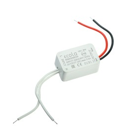 Блок питания для светодиодной ленты Ecola, 6 Вт, 220-12 В, IP20