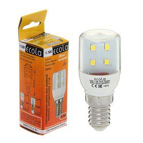 Лампа светодиодная Ecola, T25, 1.1 Вт, E14, 4000 K, 340°, для холодильников и швейных машин