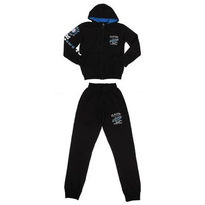Костюм спортивный мужской арт.3033, цвет черный, р-р 48-50 (XL)