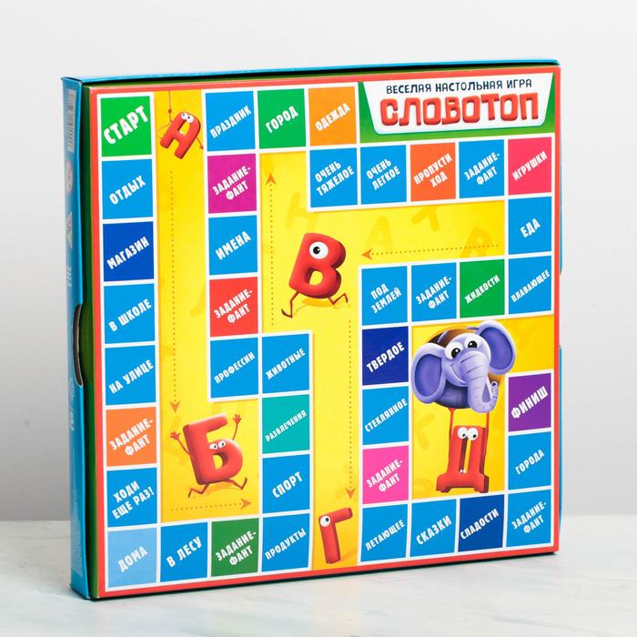 Настольная словесная игра «Словотоп»