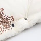 Муфта для рук «Руно» меховая, на кнопках, цвет молочный