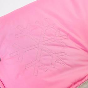 Муфта для рук на санки или коляску «Комфорт» меховая, на кнопках, цвет розовый - фото 2226927