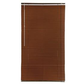 Blinds, plastic 80x160 cm, nut color.