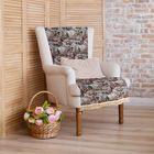 """Накидка на кресло """"Этель"""" Дома, размер 75х160 см, с бахромой"""
