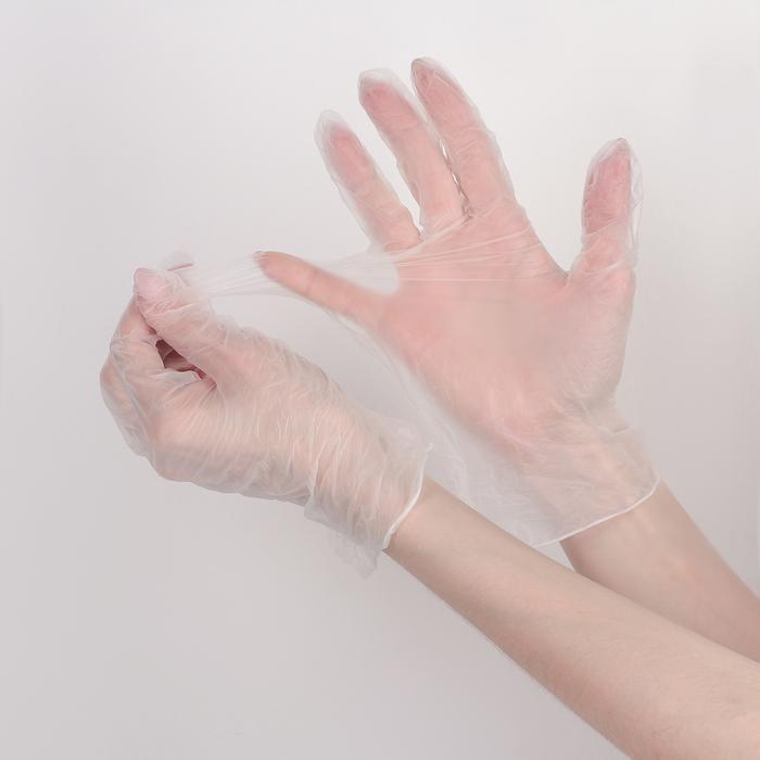 Перчатки виниловые одноразовые неопудренные L 100 шт/уп