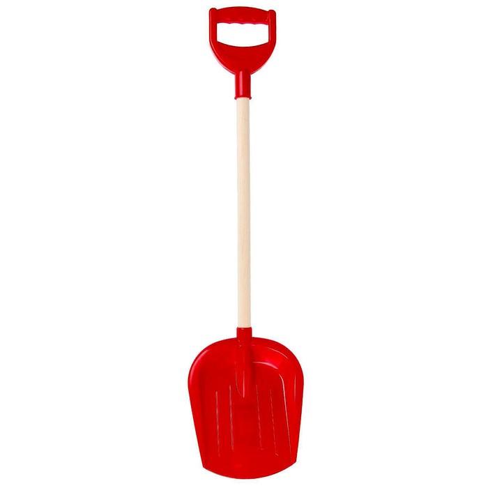 Лопата большая с деревянной ручкой, цвета МИКС