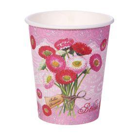 "Стакан бумажный ""Полевые цветы"" 250 мл (набор 6 шт)"