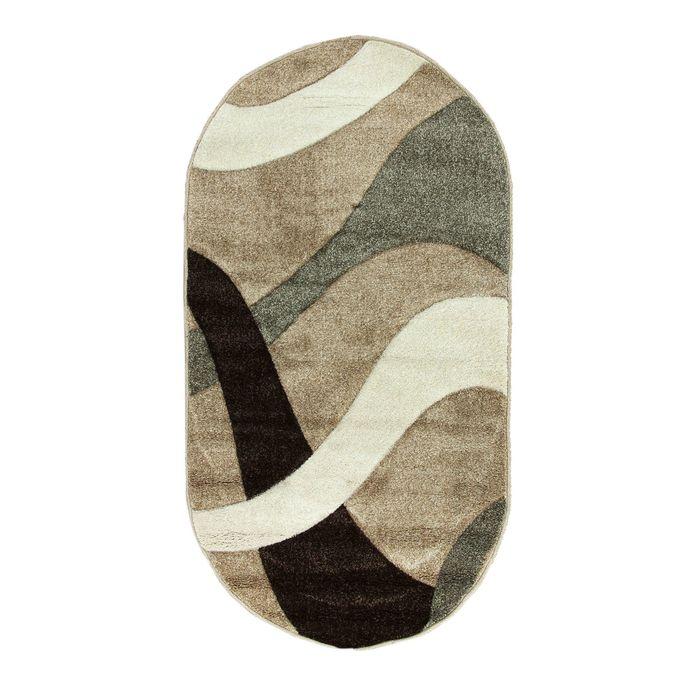 Овальный ковёр Rio Carving 024, 80 х 150 cм, цвет beige - фото 7929009