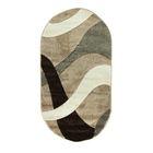 Овальный ковёр Rio Carving 024, 100 х 200 cм, цвет beige - фото 7929010