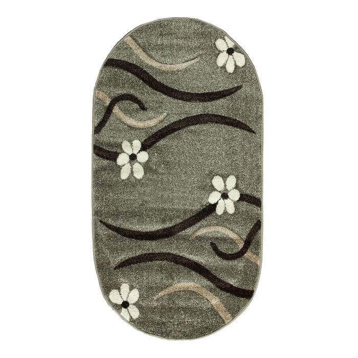 Овальный ковёр Rio Carving 126, 80 х 150 cм, цвет fume - фото 7929013