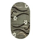 Овальный ковёр Rio Carving 126, 100 х 200 cм, цвет fume - фото 7929014